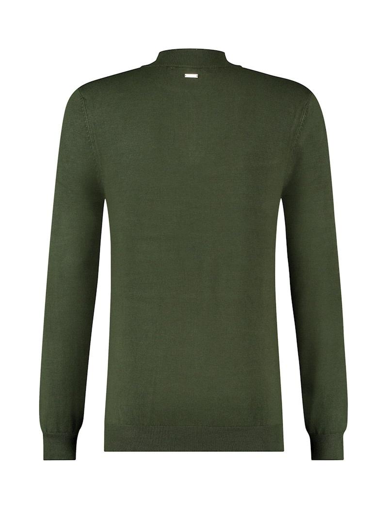 Pure White Pure White Essential Half Zip Knit Army Green