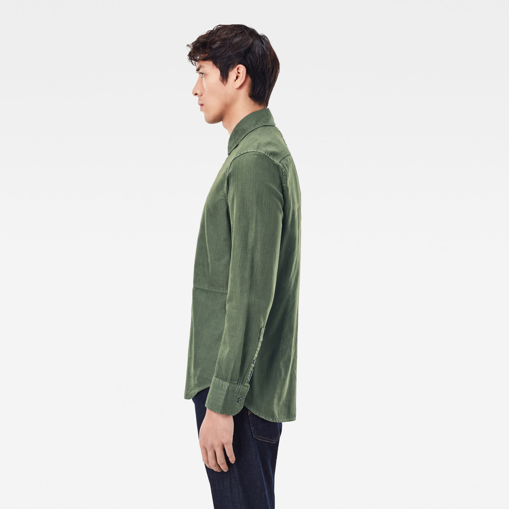 G-Star G-Star Panelled pocket Slim Shirt Combat Green