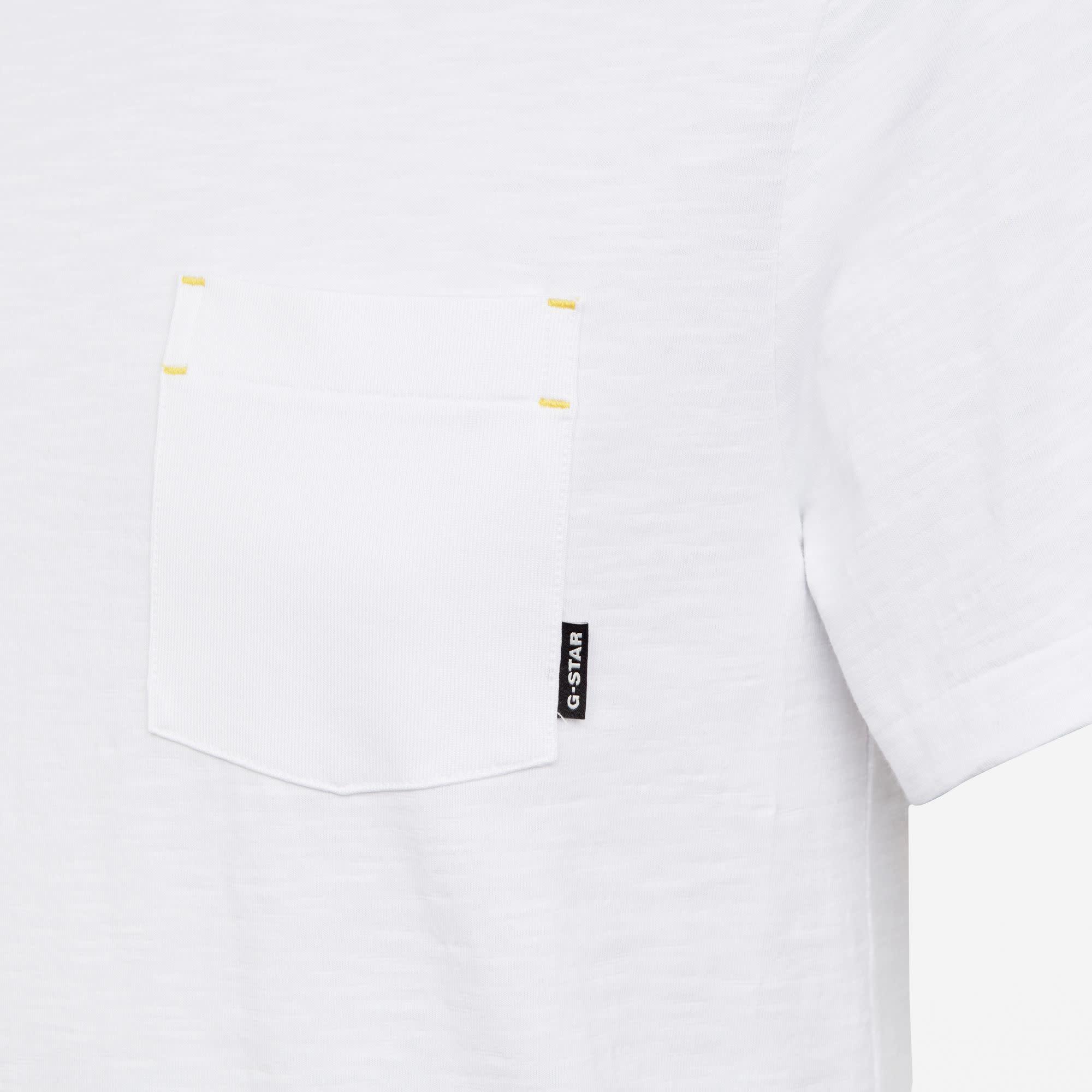 G-Star G-Star Contrast Mercerized Pocket R T White
