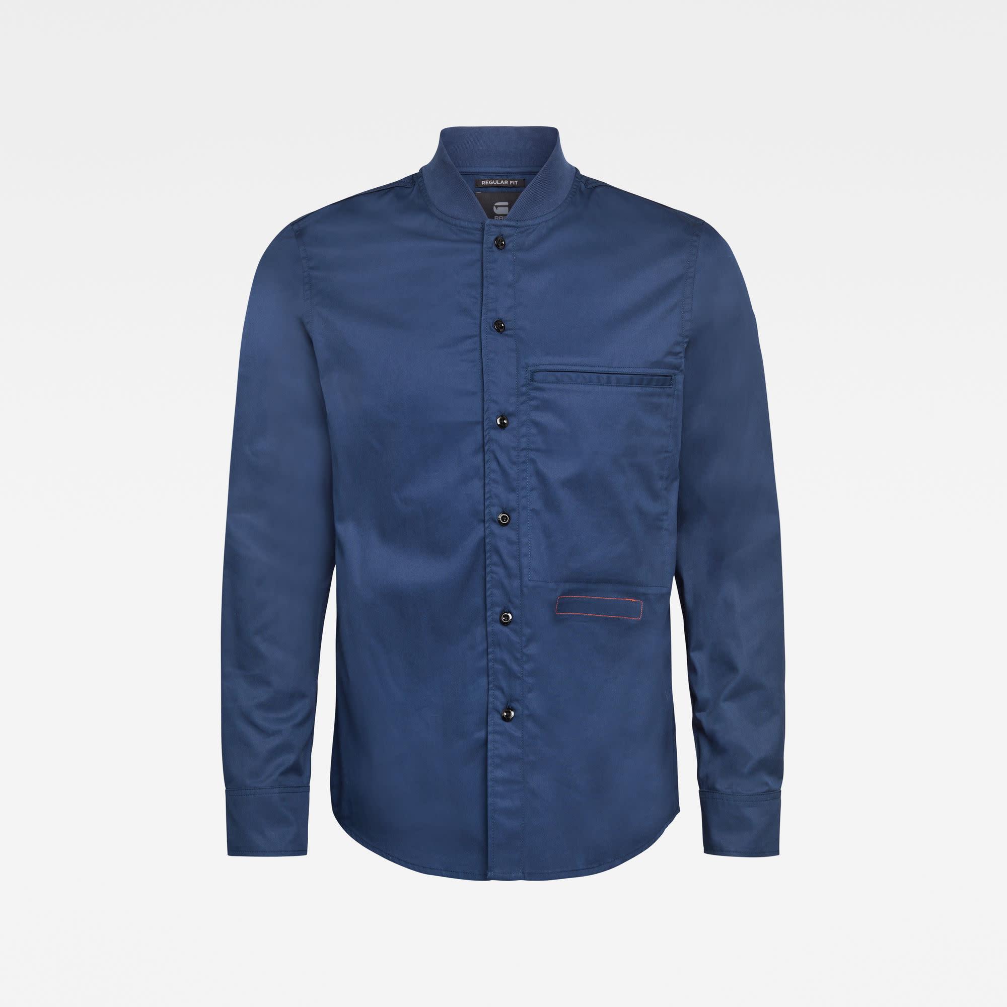 G-Star G-Star Bomber Collar Regular Overshirt Imperial Blue