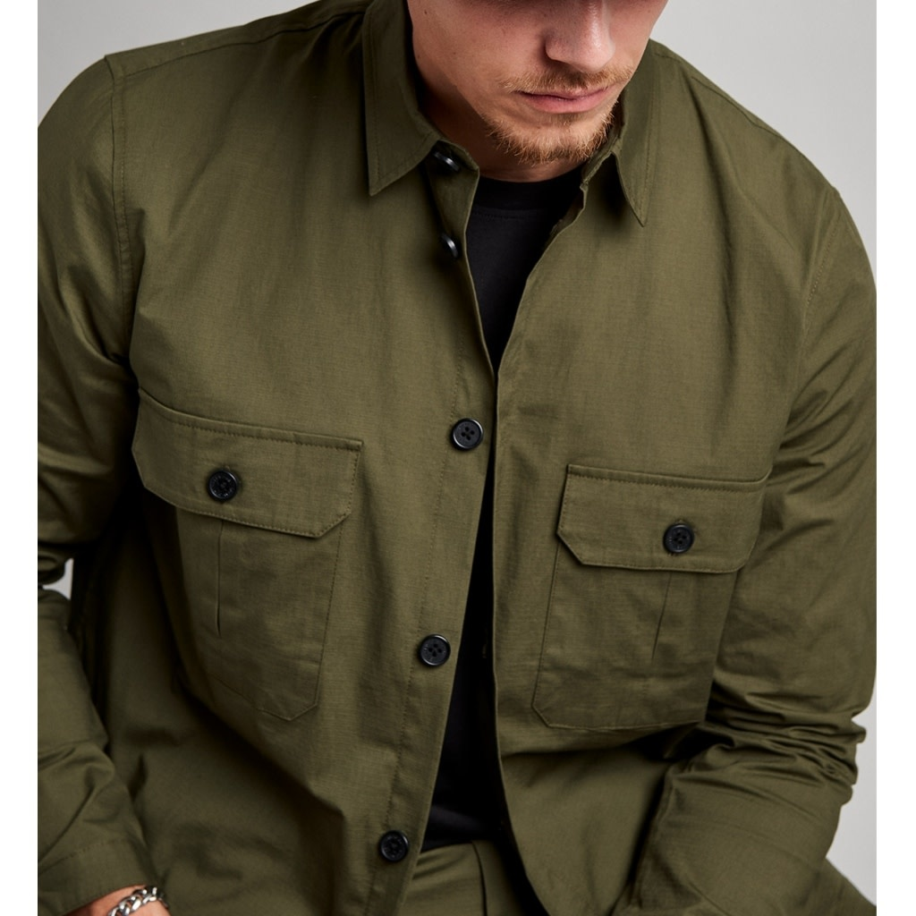 Clean Cut Clean Cut Ripstop Stretch Overshirt Army Green