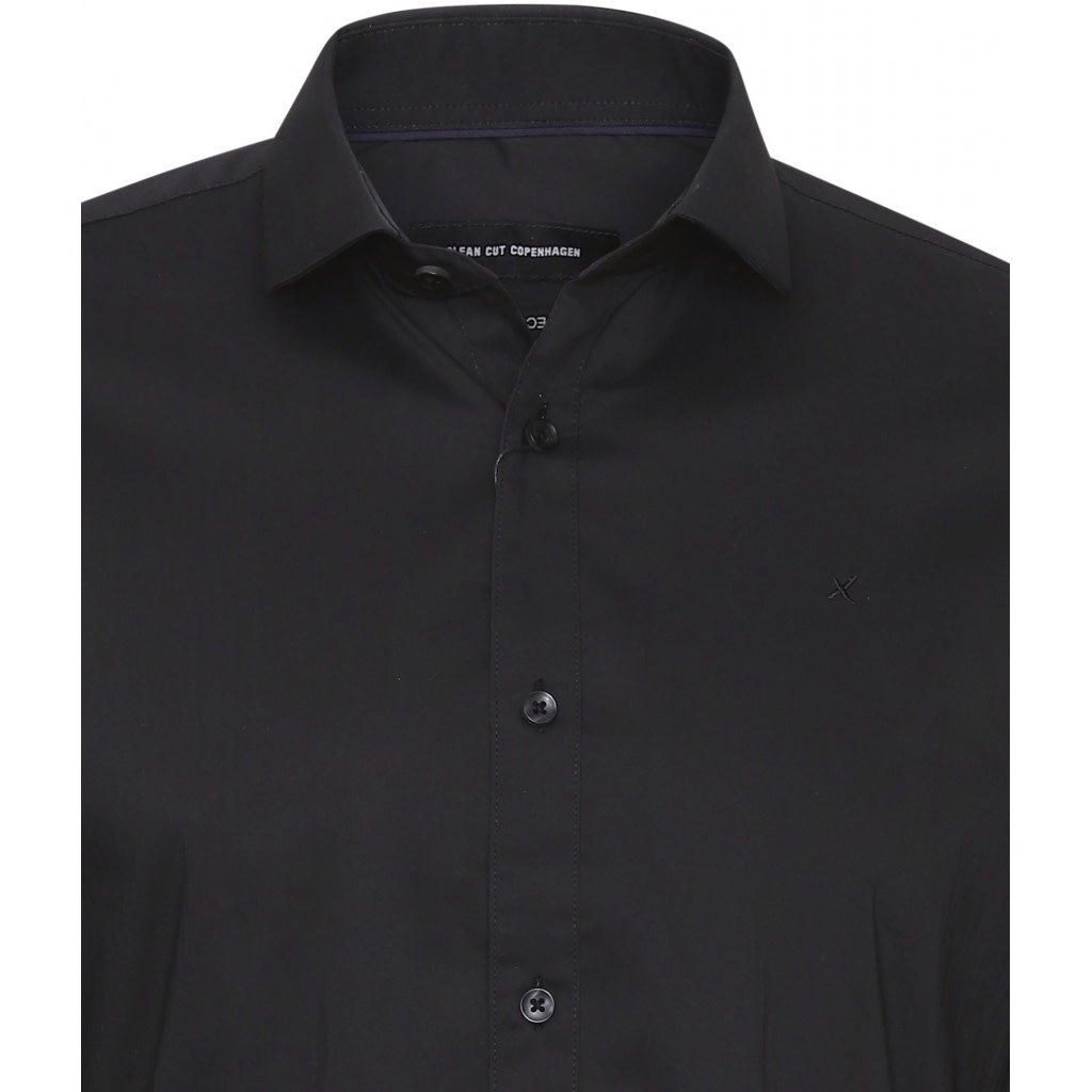 Clean Cut Clean Cut London Stretch Nano Shirt L/S Black