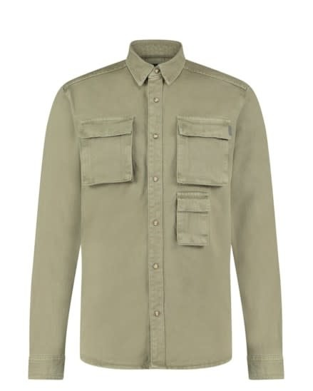 Purewhite Pure White 21010208 Denim Shirt Light Army Green
