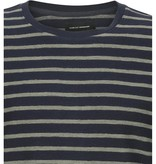 Clean Cut Clean Cut Richard Organic Stripe Sweat Navy/Dusty Green