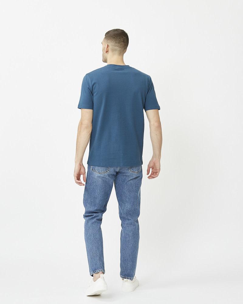Minimum Minimum Sims Tee 2088 Majolica Blue