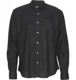 Clean Cut Clean Cut Cotton/Linnen Mao L/S Shirt Black