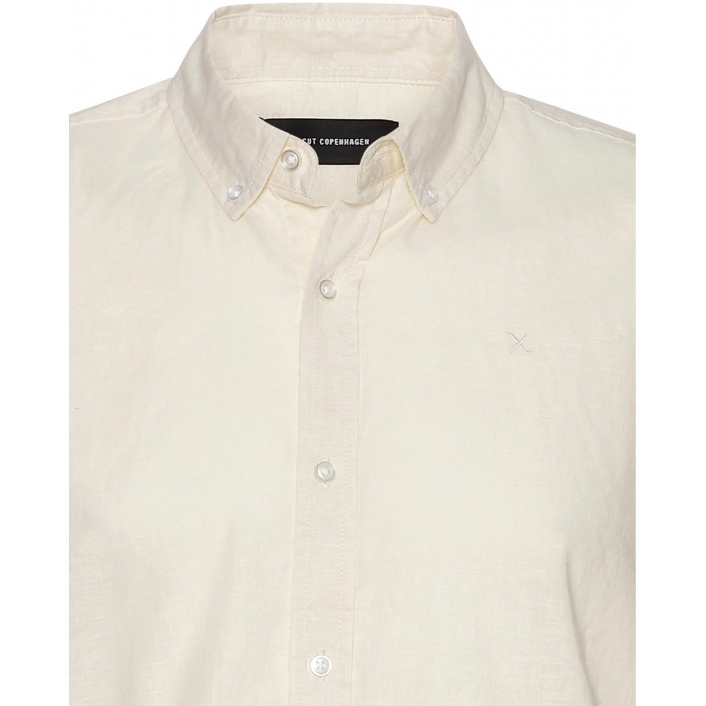 Clean Cut Clean Cut Cotton/Linnen S/S Shirt Ecru
