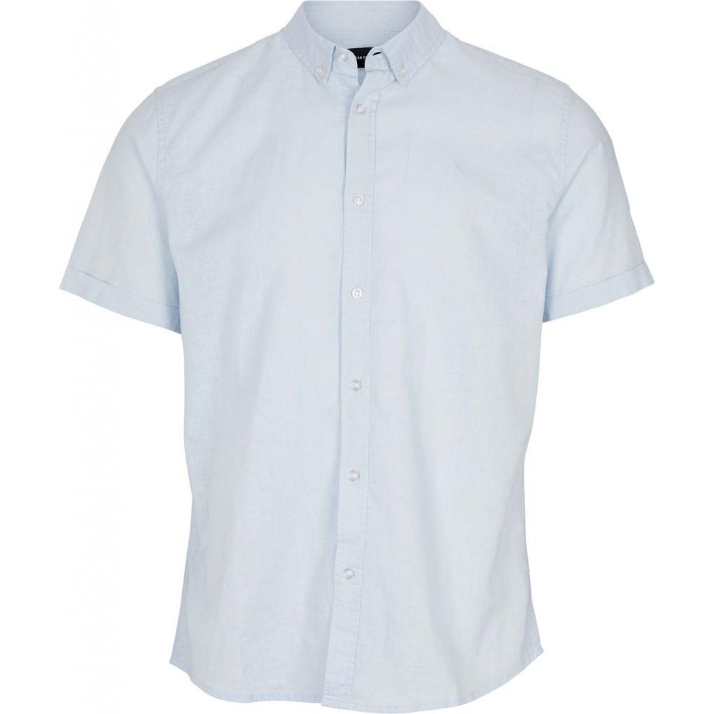 Clean Cut Clean Cut Cotton/Linnen S/S Shirt Sky Blue