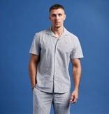 Clean Cut Clean Cut Otto Bowling Shirt White/Grey