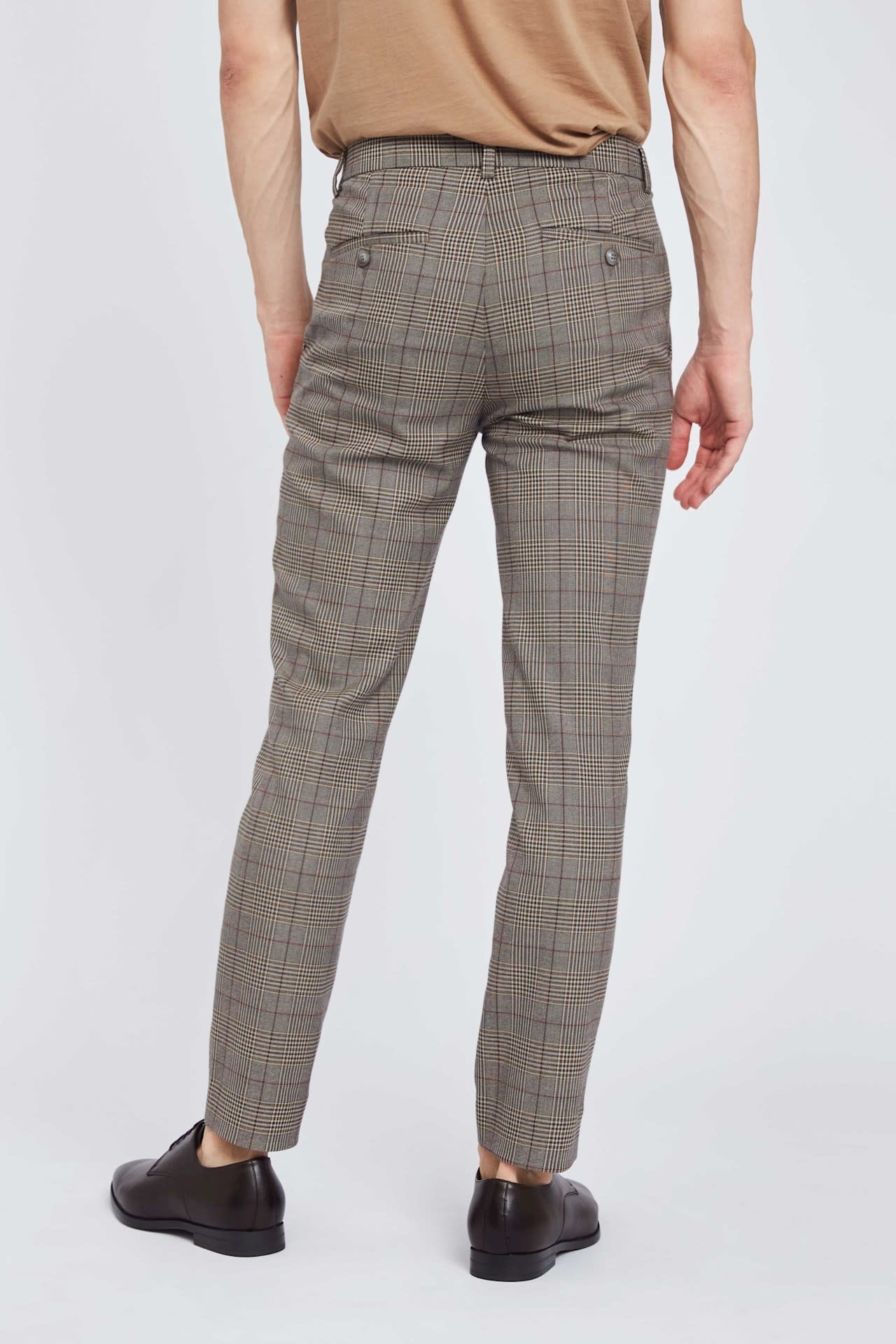 Plain Plain Josh 513 Pants Khaki Cool Check