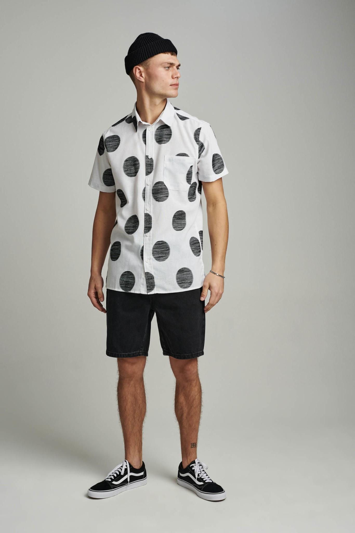 Anerkjendt Anerkjendt Aklenny S/S Dots Shirt Tofu Off White