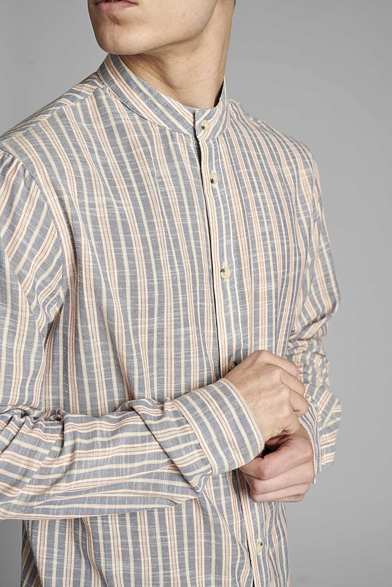 Anerkjendt Anerkjendt Akmoller Horisontals Shirt Sky Captain Blue