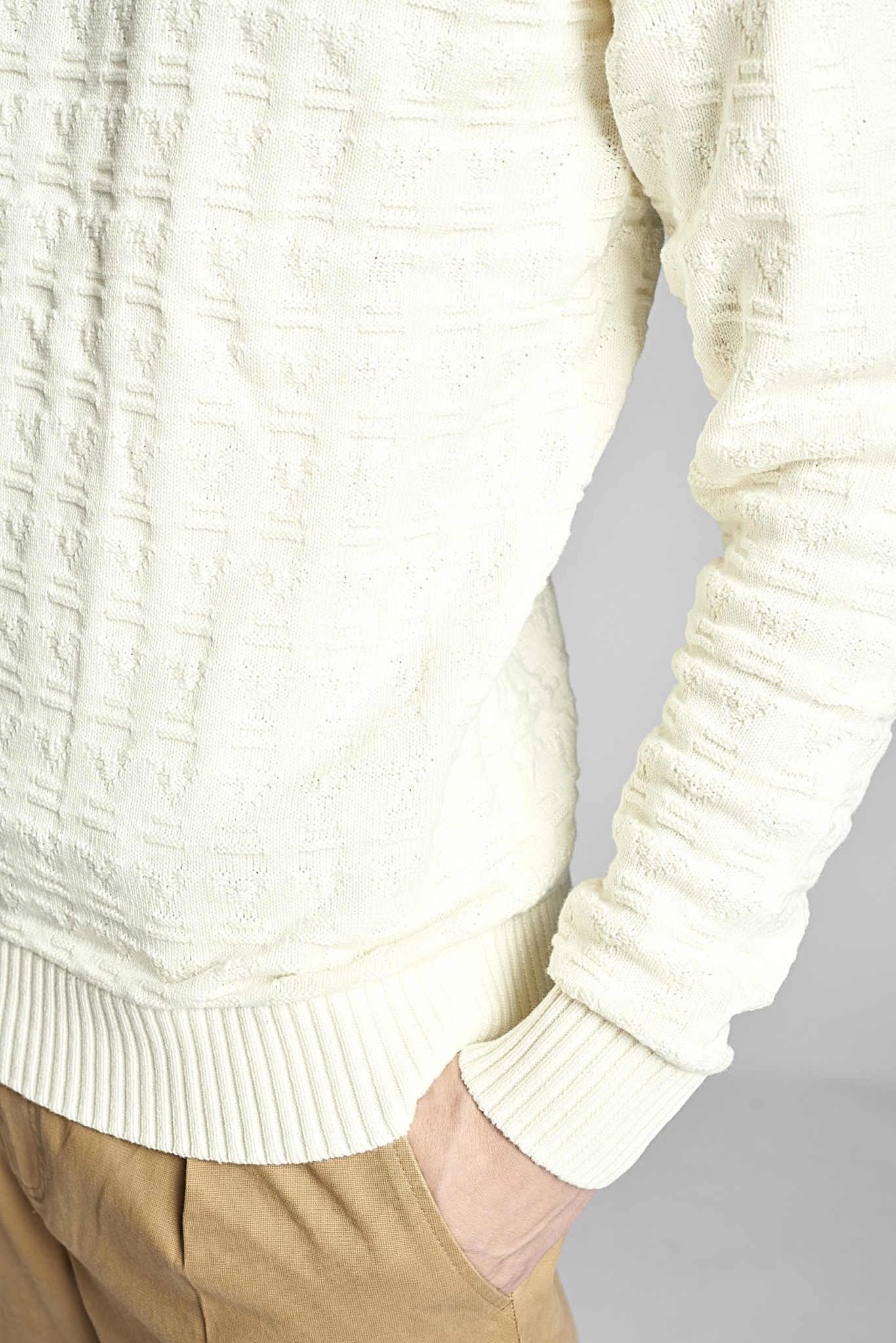 Anerkjendt Anerkjendt Aknico Jacquard Knit 900196 Tofu Off White