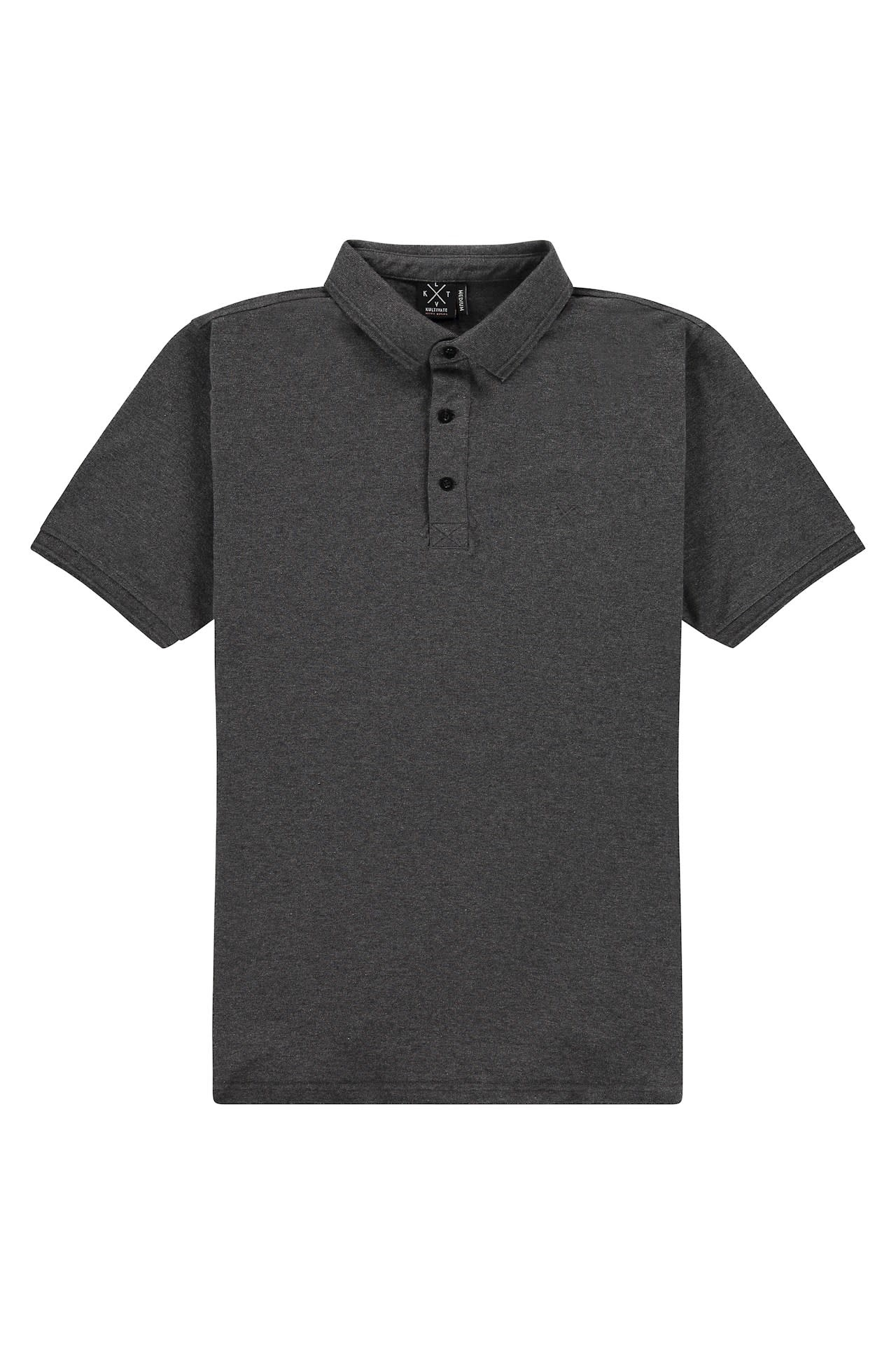 Kultivate Kultivate Keene Polo Dark Grey Melange
