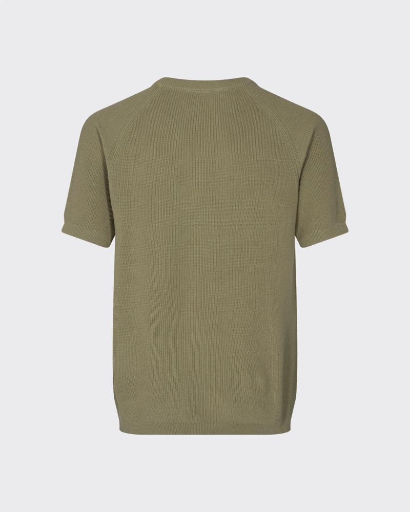 Minimum Minimum Zacha 8091 Short Sleeve Knit Seneca Rock Brown