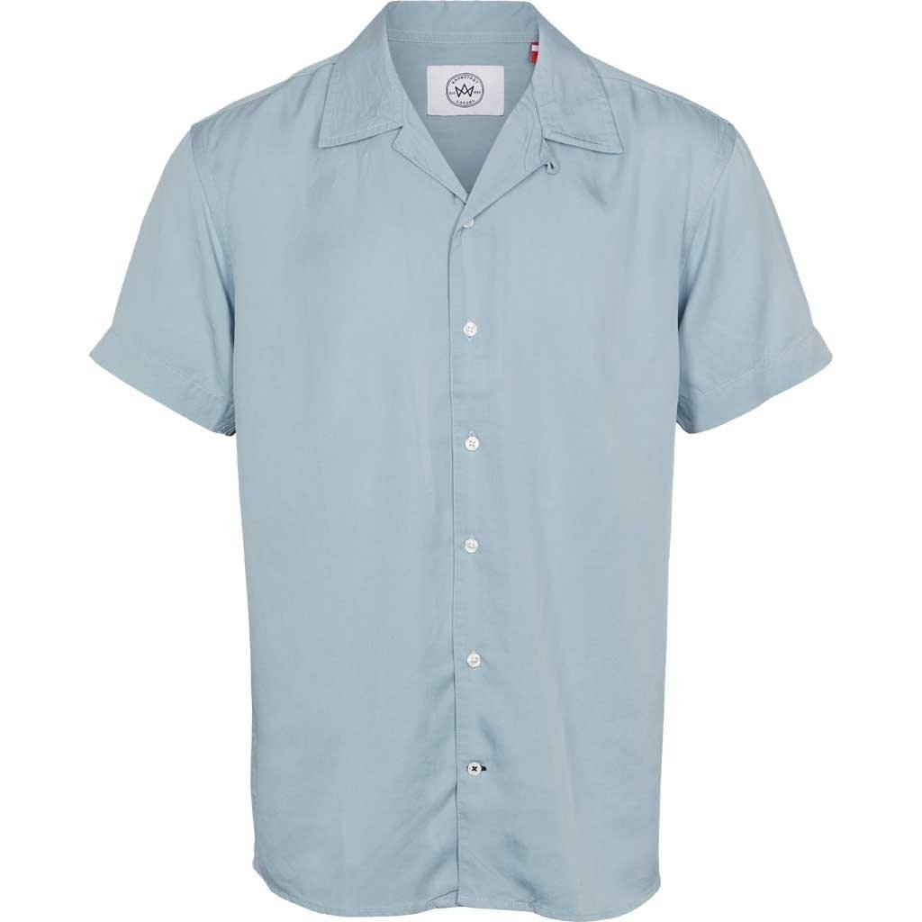 Kronstadt Kronstadt Cuba Tencel S/S Shirt Light Blue