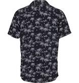 Kronstadt Kronstadt Cuba Tropical S/S Shirt Palms Black