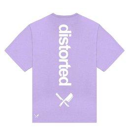 Distorted People Distorted People Heavy Oversized Backprint Tee Lila Purple