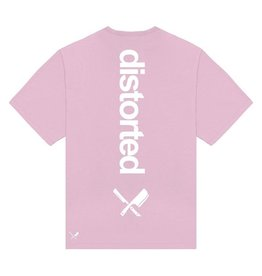 Distorted People Distorted People Heavy Oversized Backprint Tee Mauve Pink
