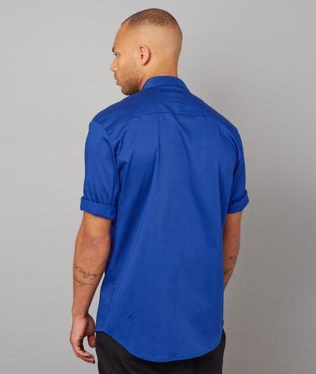 Distorted People Distorted People Dpc 3087 Short Sleeve Shirt Deep Ocean Blue