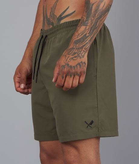 Distorted People Distorted People Classic 3209 Swim Short Olive Green