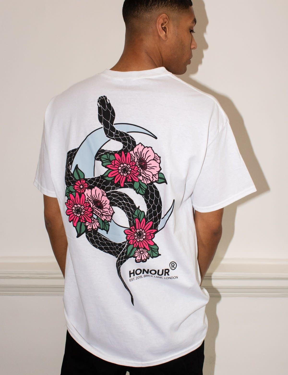 HNR LDN Honour Londen Snake H Unisex Tee White