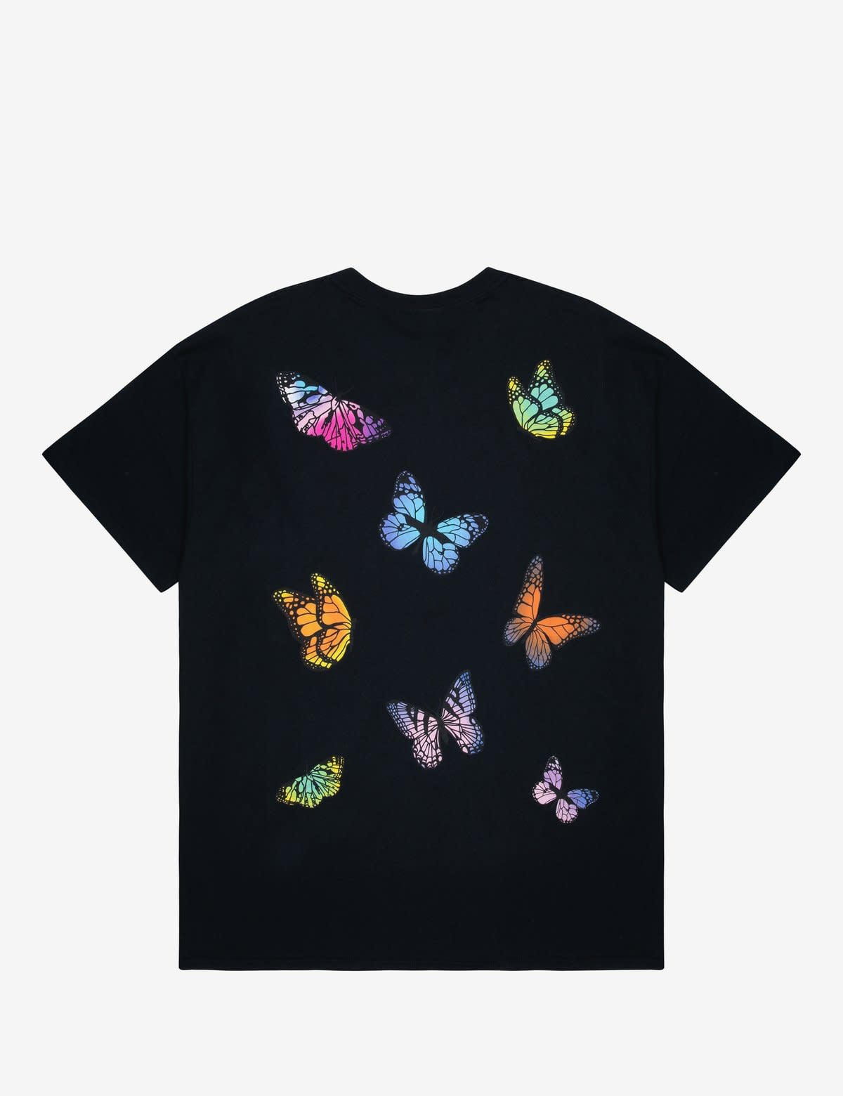 HNR LDN Honour Londen Butterfly Back Print Unisex Tee Black