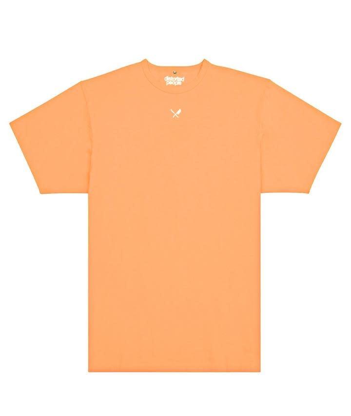 Distorted People Distorted People Heavy Oversized Tee Coral Orange