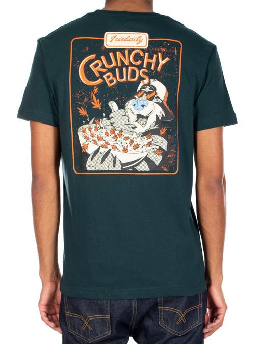 Iriedaily IRIEDAILY Crunchy Buds Printed Tee Nightforest Green