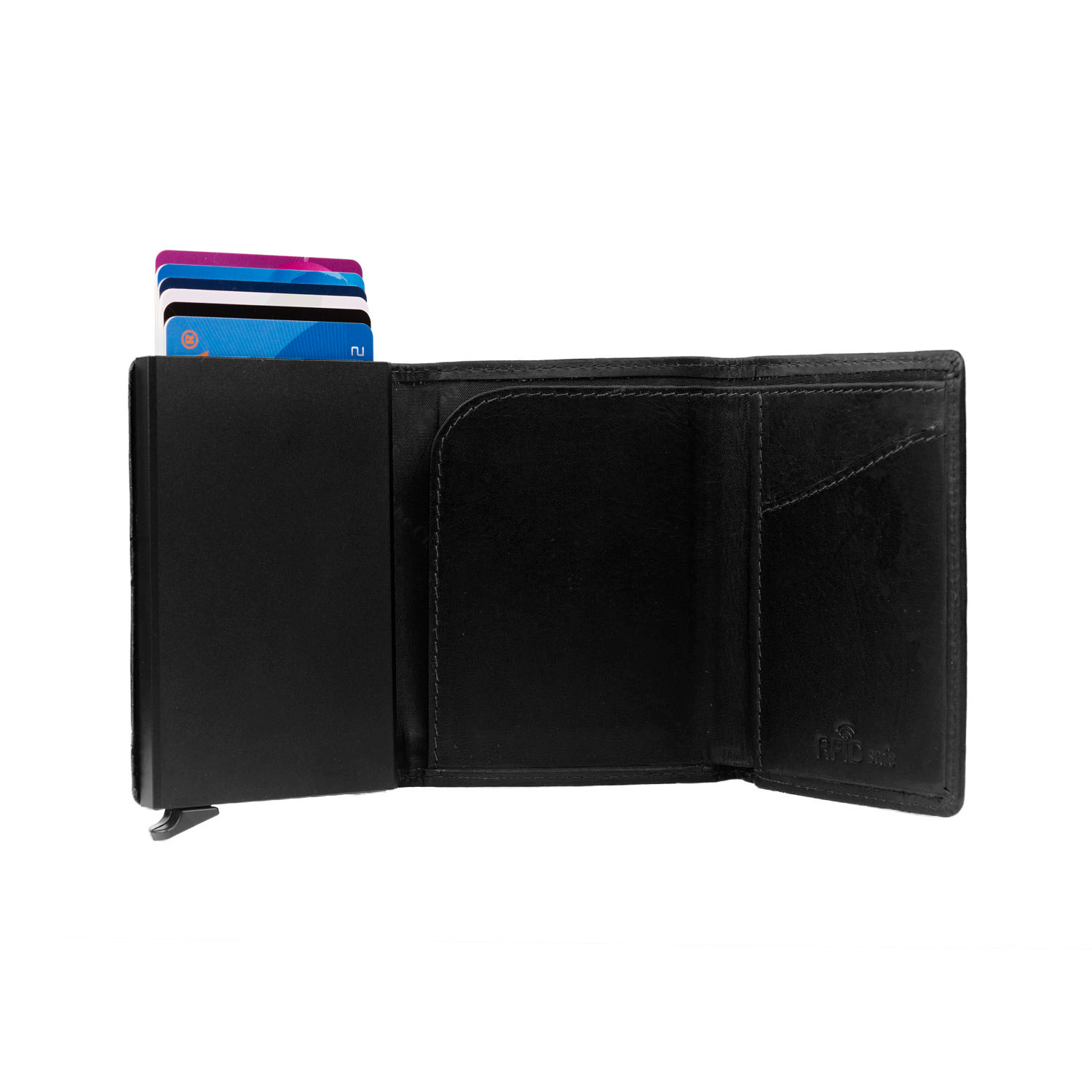 Chesterfield Chesterfield Lancaster Cardholder Waxed Leather Black