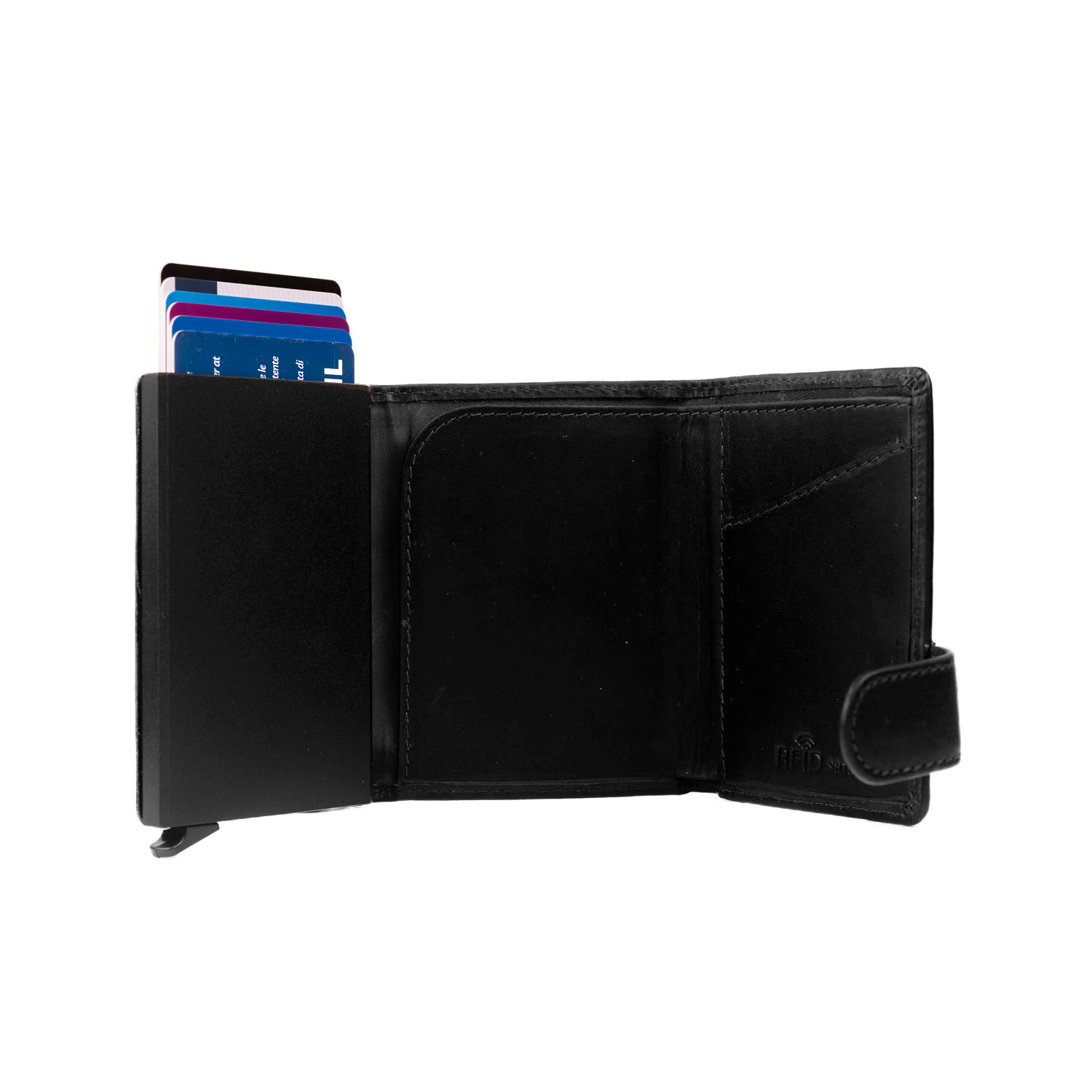Chesterfield Chesterfield Leicester Cardholder Waxed Leather Black