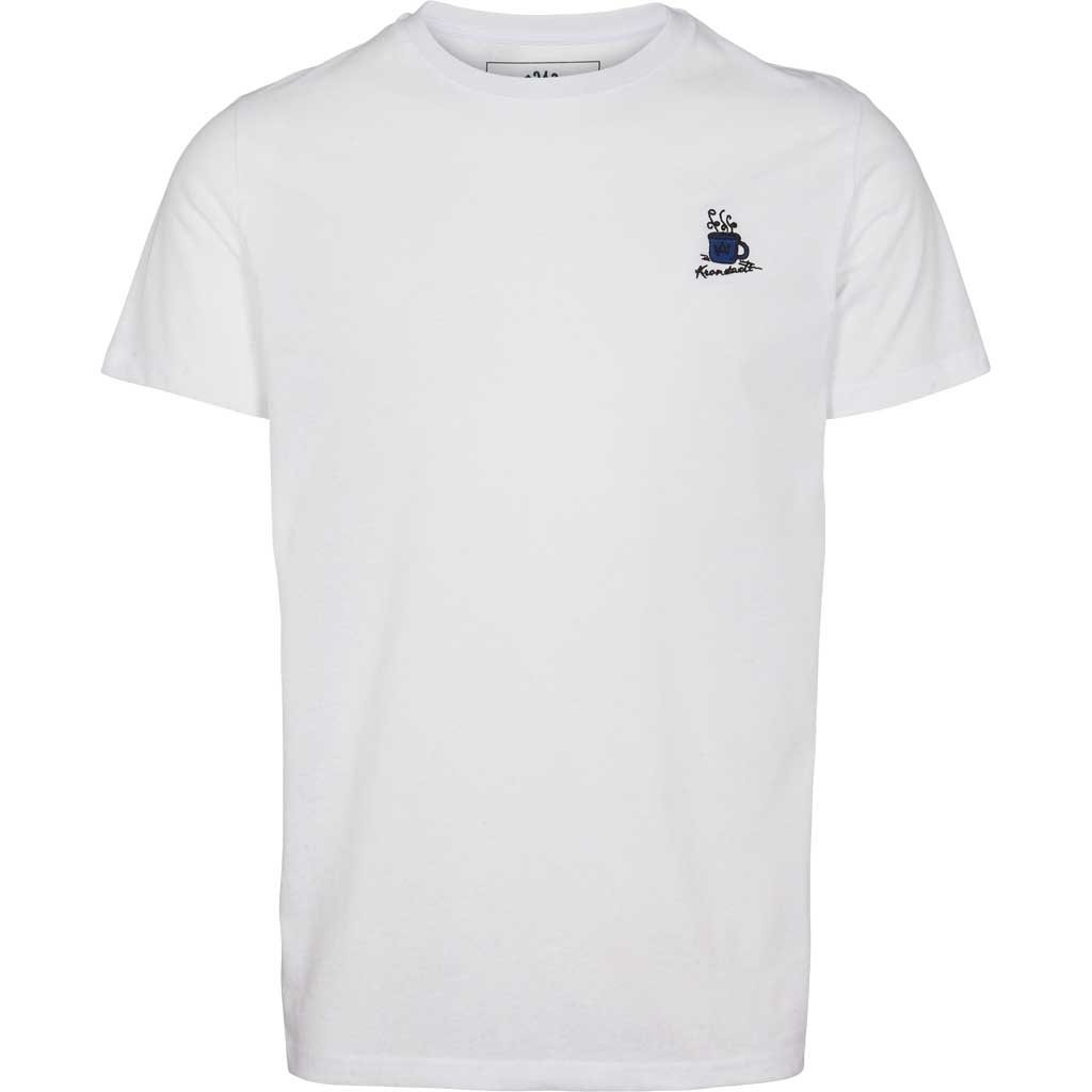 Kronstadt Kronstadt Timmi Embroidery Recycled Cotton Coffee Tee White