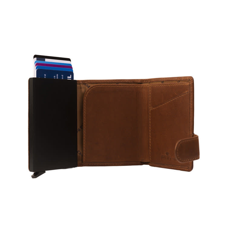 Chesterfield Chesterfield Leicester Cardholder Waxed Leather Cognac