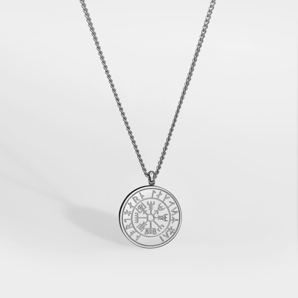 Northern Legacy Northern Legacy Vegvisir Pendant Silver Tone Necklace