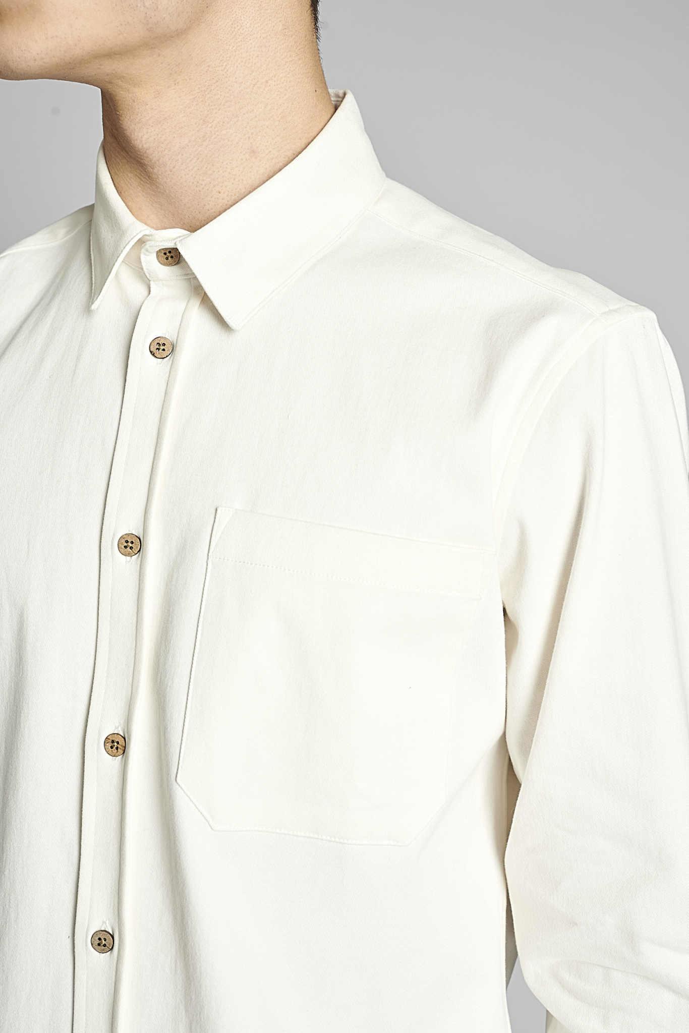 Anerkjendt Anerkjendt Aklenny Twill Shirt 900211 Tofu Off White