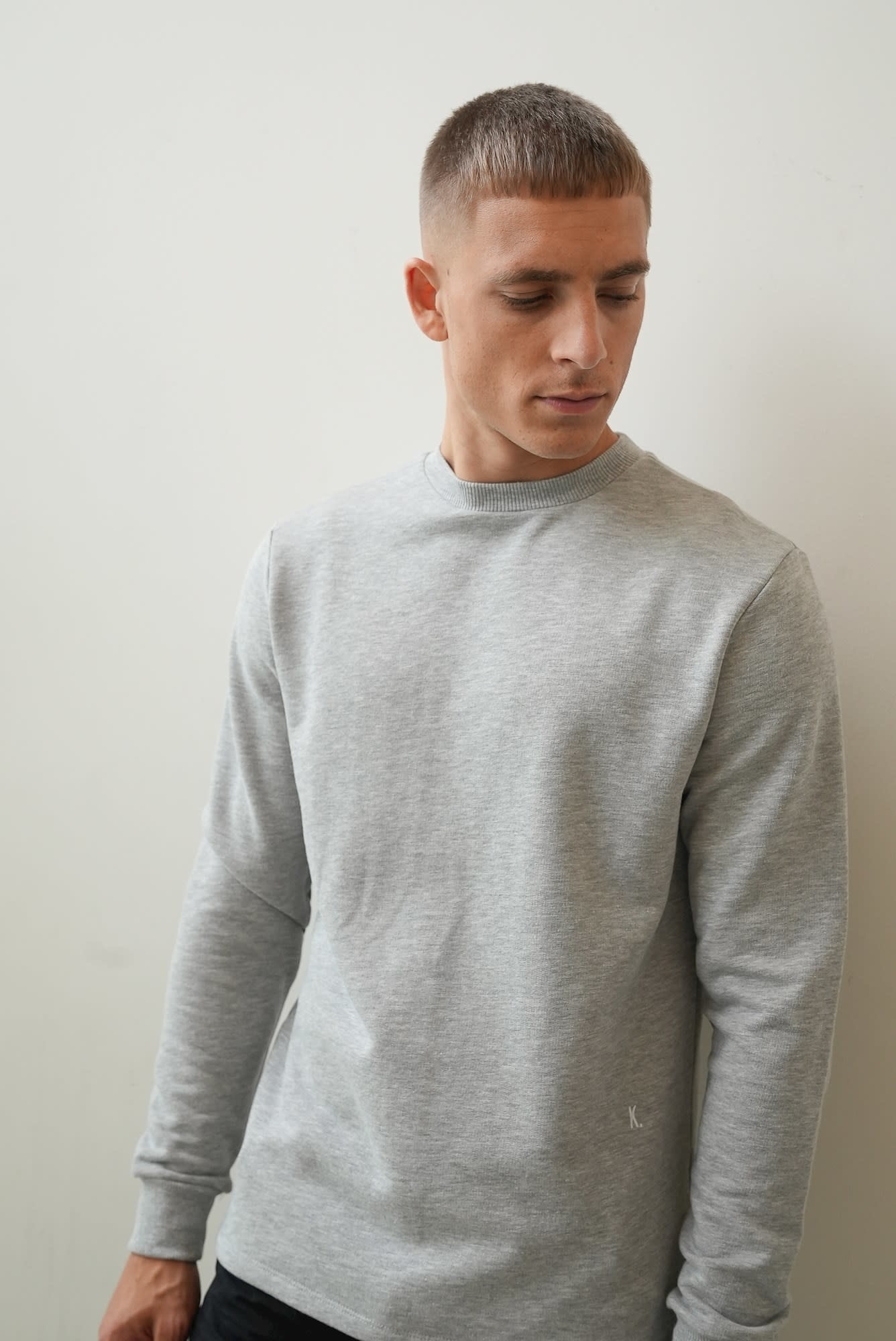 Kultivate Kultivate Jack Sweat Light Grey Melange