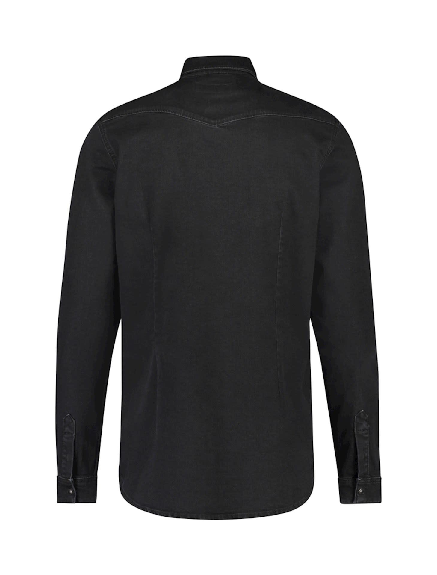 Purewhite Pure White 21030219 Stretch Denim Shirt Black