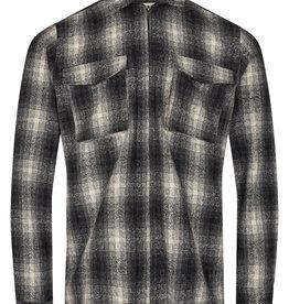 Anerkjendt Anerkjendt AkHanky Wool Check Overshirt 900246 Caviar Black
