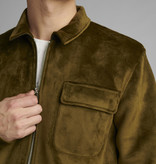 Anerkjendt Anerkjendt AkSoeren Velvet Cardigan 900381 Cypress Green