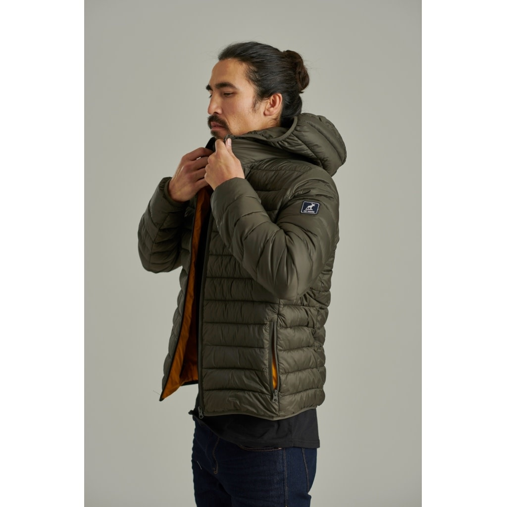 Fat Moose Fat Moose Shane Quilted Jacket Beetle Green