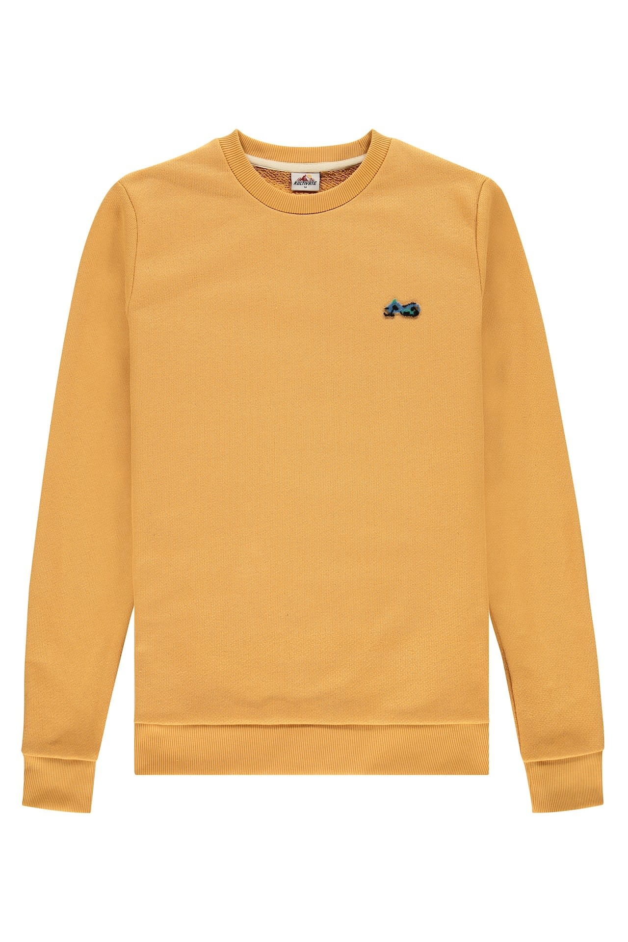 Kultivate Kultivate Snowmobile Sweater Honey Yellow