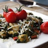 Glutenvrije Gnocchi met Spinazie en Paprika