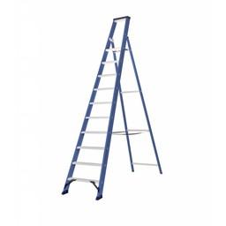 Das Ladders Das Hercules blue Aluminium-Stehleiter 10 Stufen