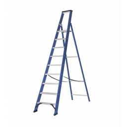 Das Ladders Das Hercules blue trapladder 9 treden