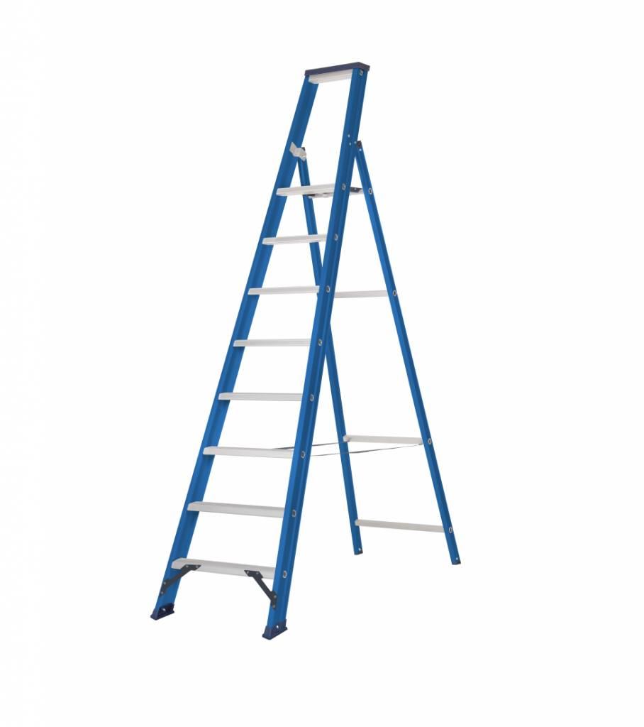 Das Ladders Das Hercules blue trapladder 8 treden