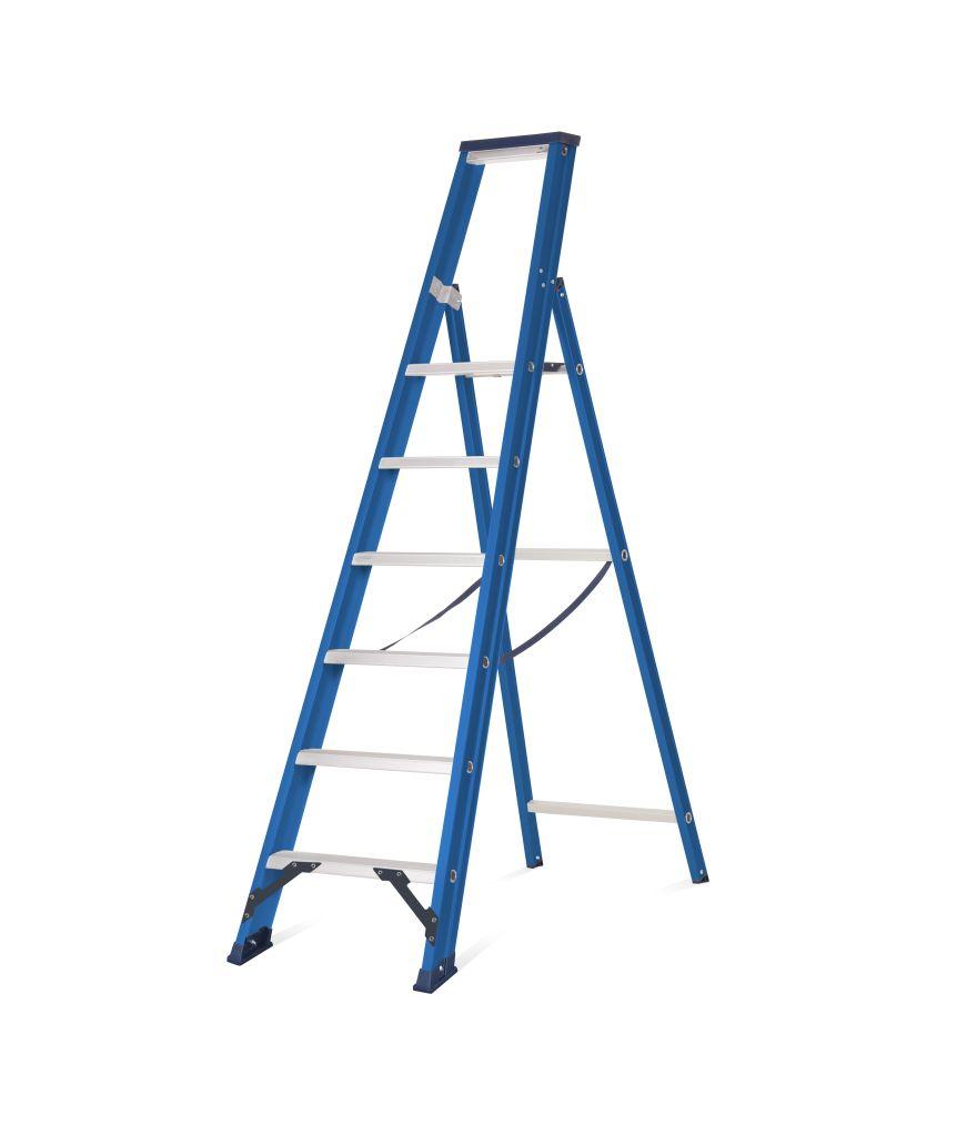 Das Ladders Das Hercules blue trapladder 6 treden