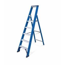 Das Ladders Das Hercules blue trapladder 5 treden