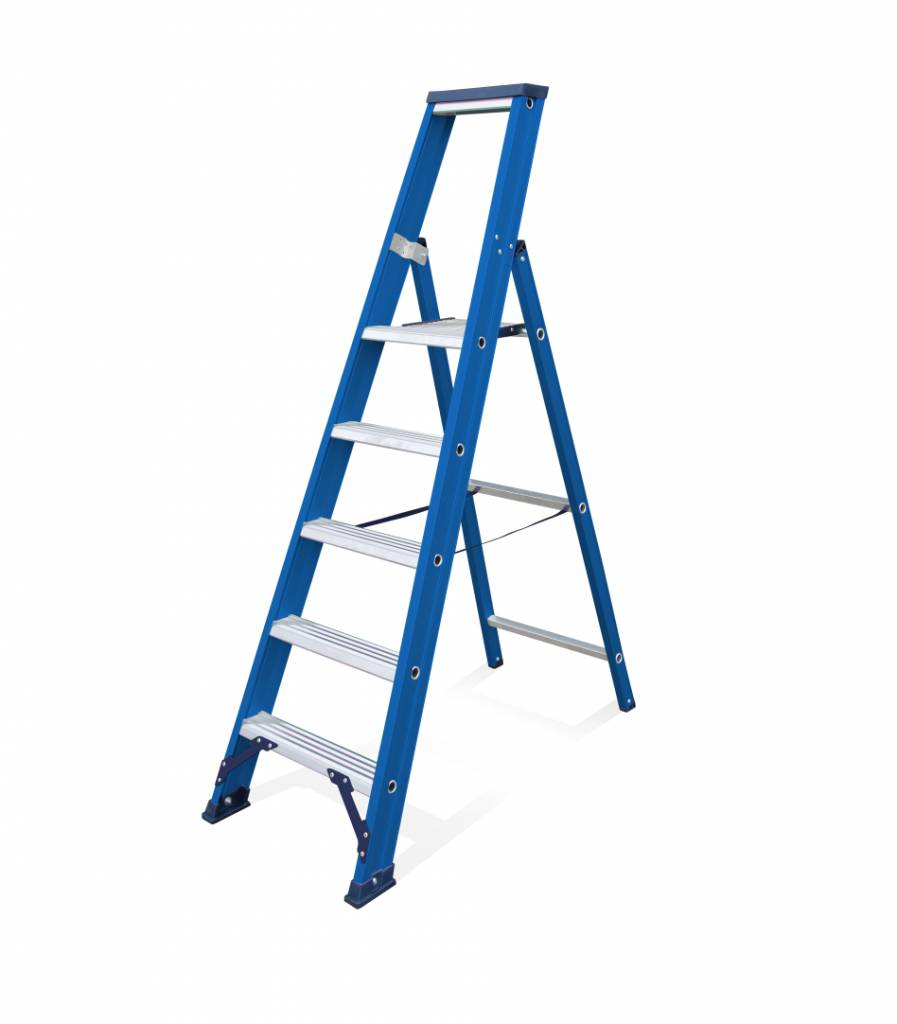 Das Ladders Das Hercules blue trapladder 1x5 treden