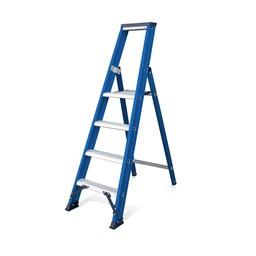Das Ladders Das Hercules blue Aluminium-Stehleiter 4 Stufen