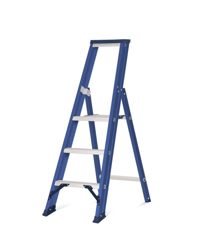 Das Ladders Das Hercules blue trapladder 3 treden